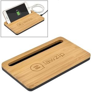5W Bamboo Print Desktop Wireless Charger